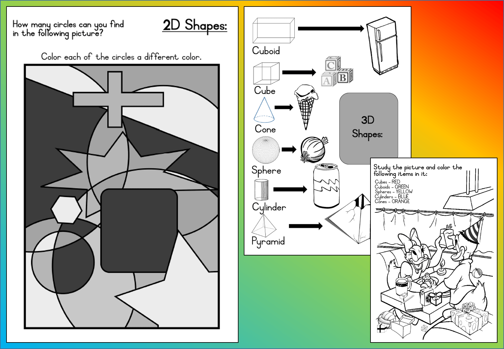 Mathematics Grade 3 Shapes Worksheet Teacha