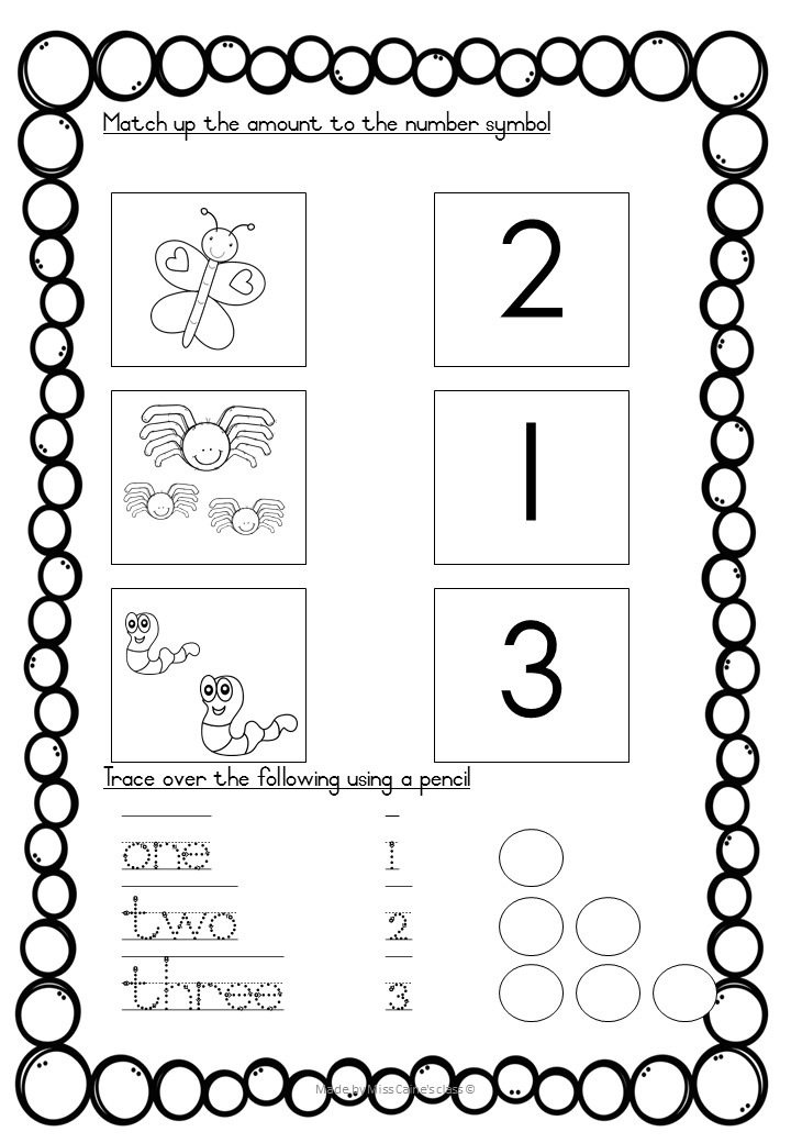 Grade 1, week 3 – worksheets