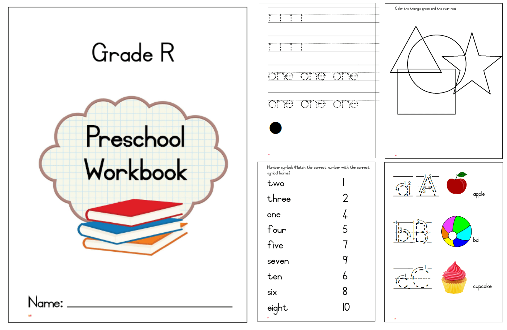 Gr R Preschool Workbook Eng Teacha
