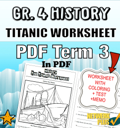 Gr.4 History Worksheet: Titanic Colouring and Questions (with Memo) -  Teacha! [ 900 x 900 Pixel ]