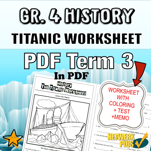 small resolution of Gr.4 History Worksheet: Titanic Colouring and Questions (with Memo) -  Teacha!
