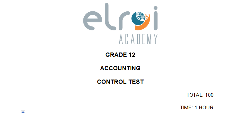 Accounting\Gr 12\Task 2 Control Test
