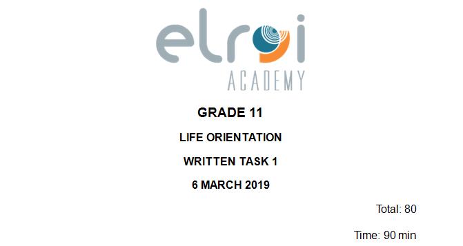 Life Orientation\Gr11\Task 1