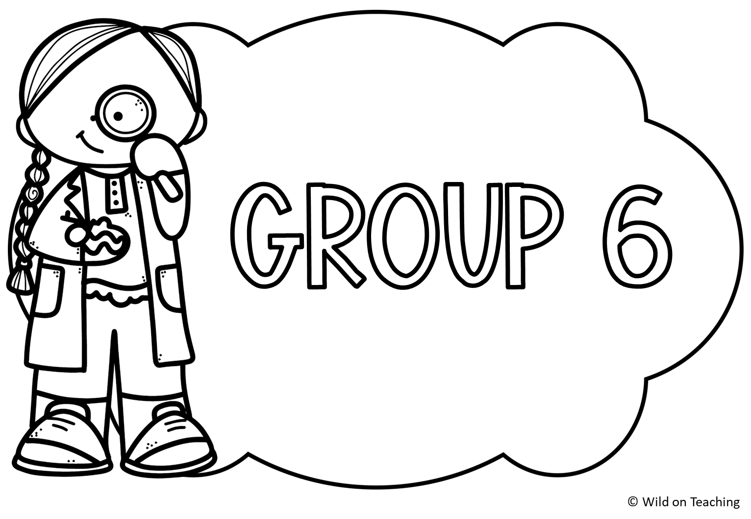 Science Kids Group Labels
