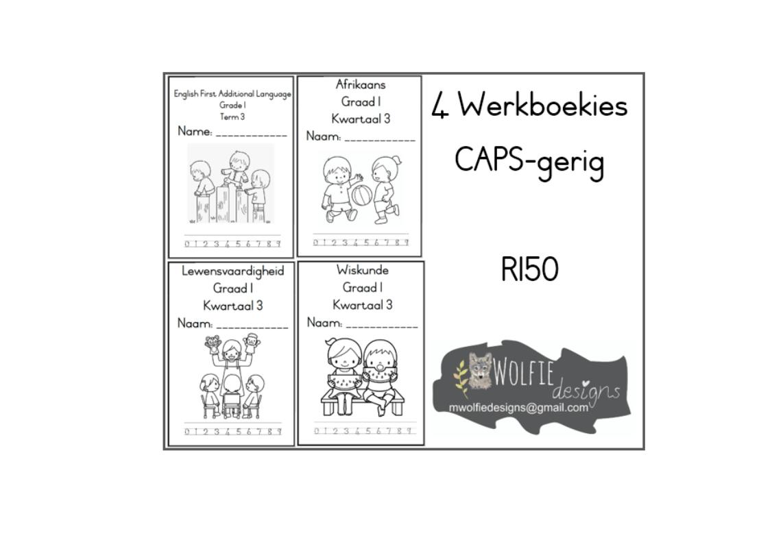 4 Werkboekies vir Graad 1 Kwartaal 3