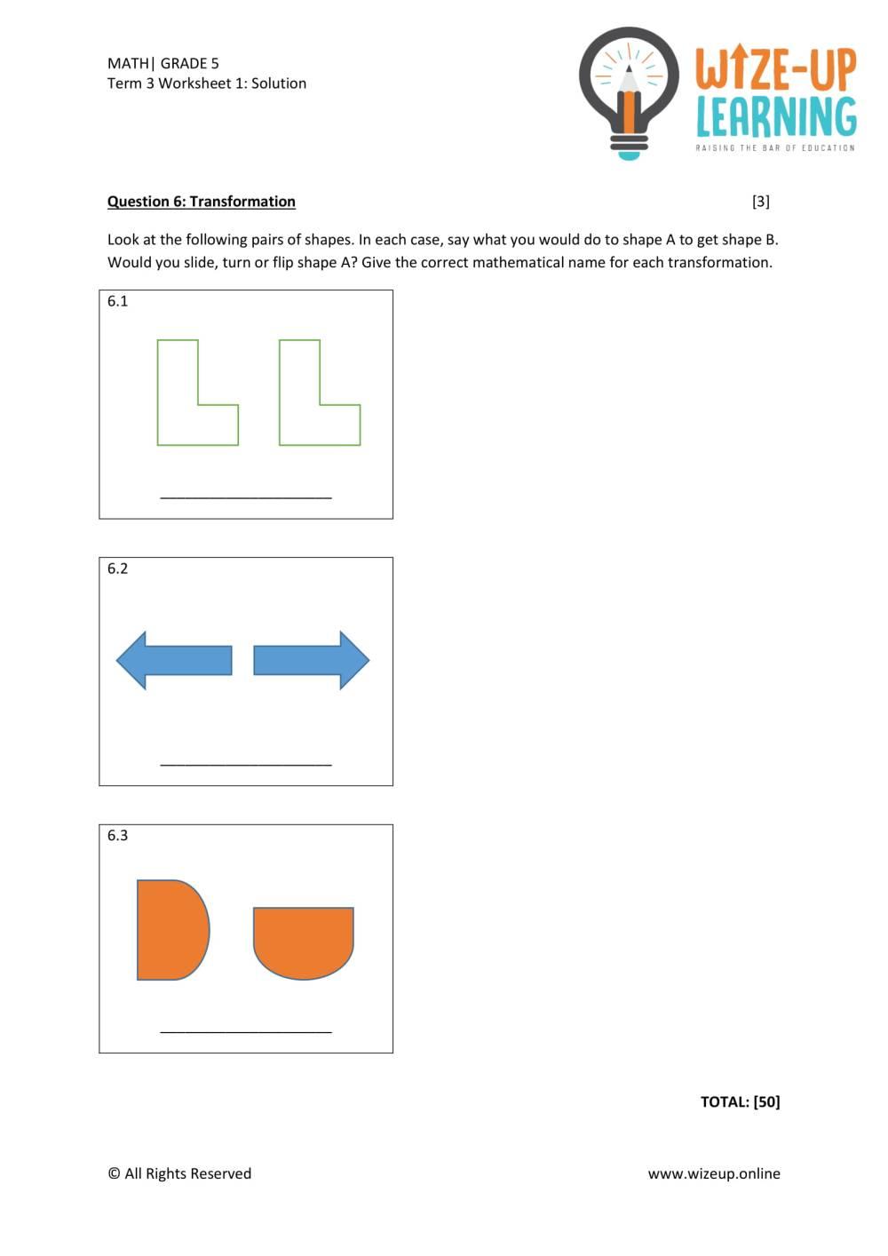 medium resolution of Grade 5 Term 3 Math Assessment 2 - Teacha!