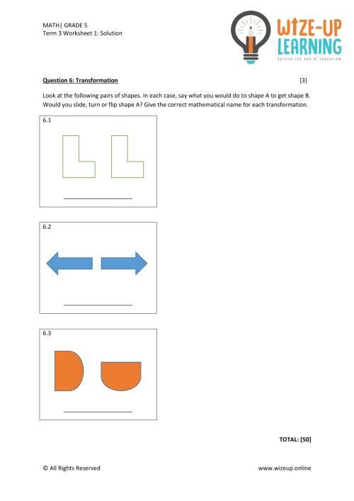 small resolution of Grade 5 Term 3 Math Assessment 2 - Teacha!