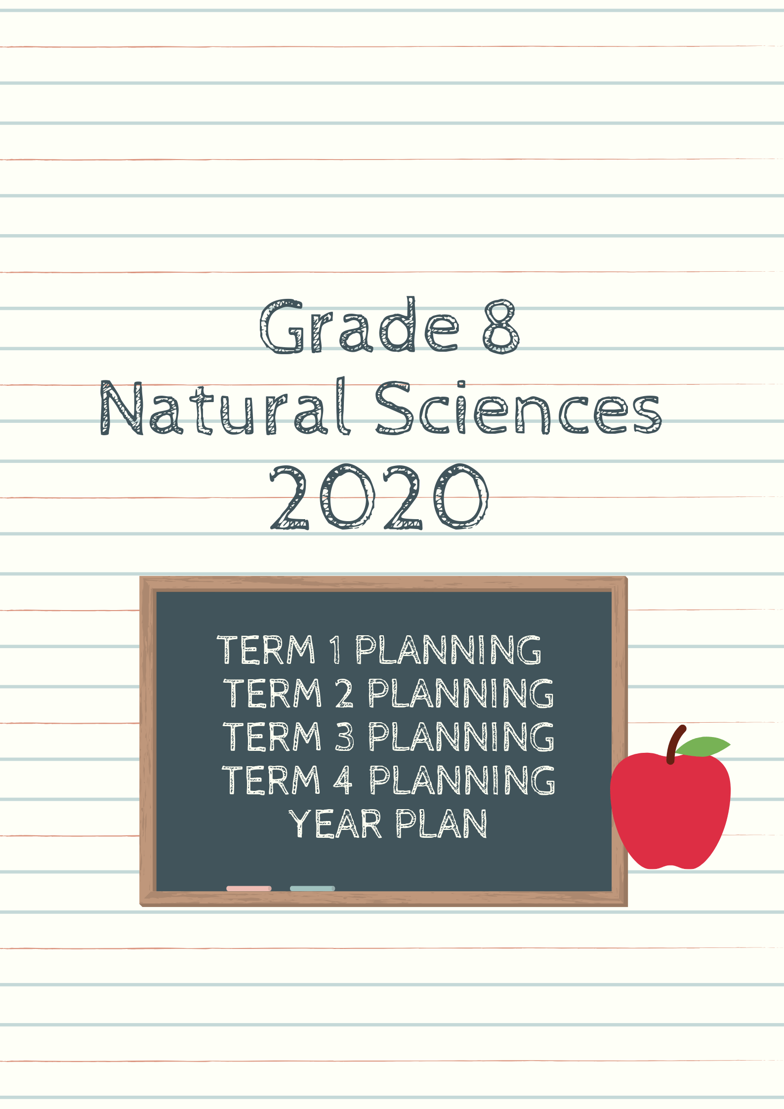 hight resolution of Grade 8 Natural Sciences Planning 2020 (term and year plan) - Teacha!