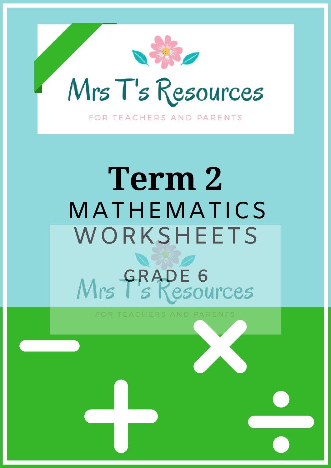 Grade 6 Mathematics Worksheets Term 2