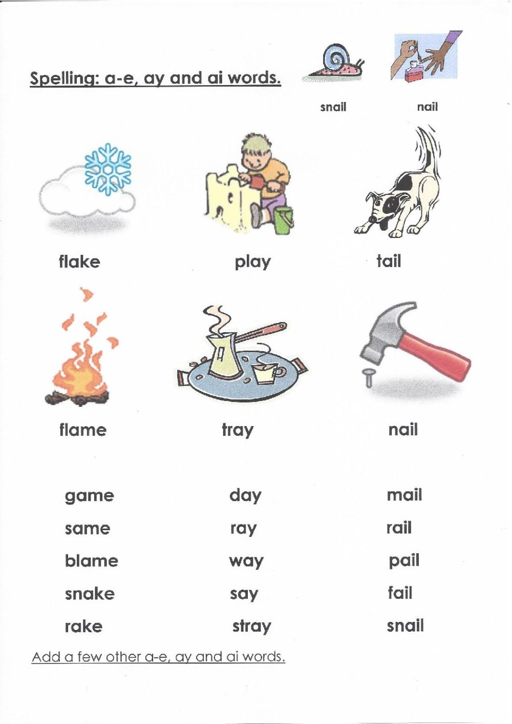 medium resolution of Ai Ay A E Worksheets   Printable Worksheets and Activities for Teachers