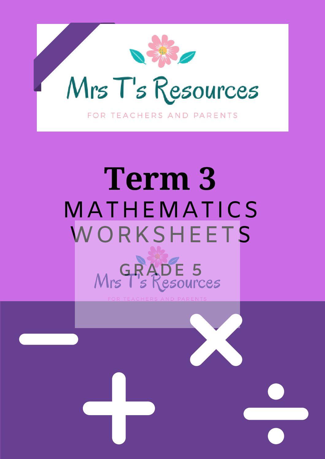 hight resolution of Grade 5 Mathematics worksheets Term 3 + MEMO - Teacha!