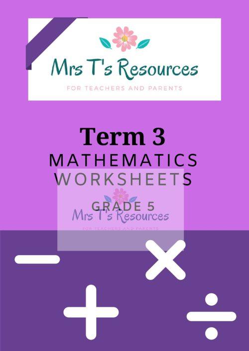 small resolution of Grade 5 Mathematics worksheets Term 3 + MEMO - Teacha!