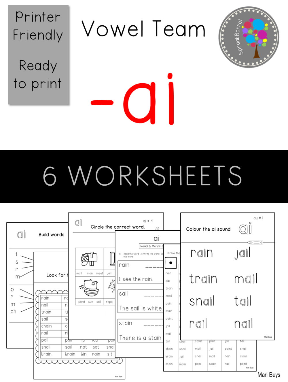 medium resolution of ai PHONICS Worksheets Home programme British English - Teacha!