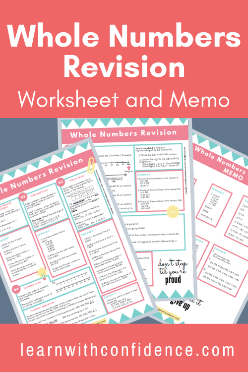 small resolution of Whole Numbers Revision (Worksheet and Memo) (Grade 4-6) - Teacha!