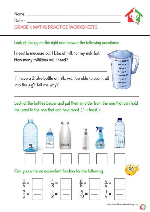 small resolution of Grade 4 Maths practice worksheets - Teacha!