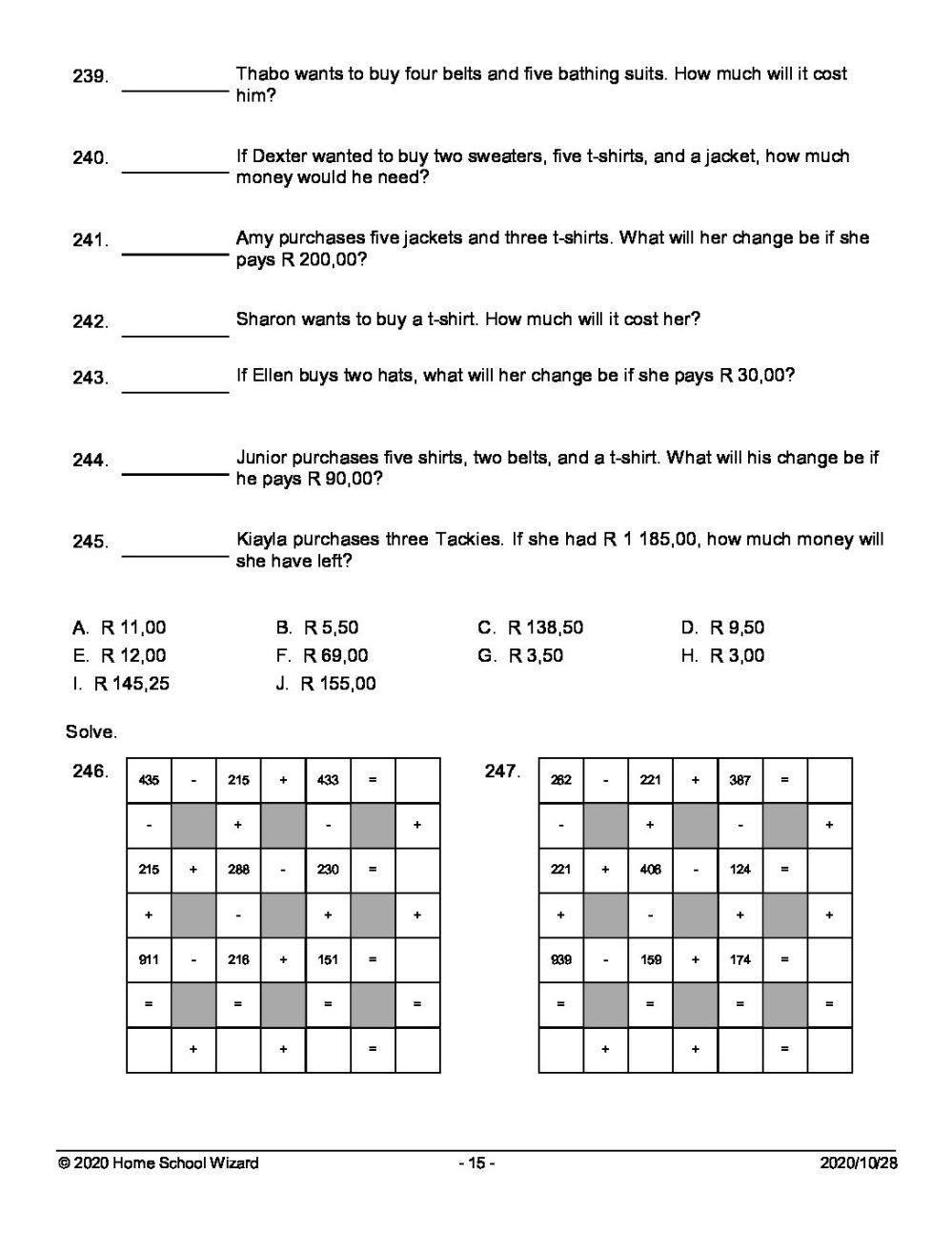 medium resolution of GRADE 6 TERM 4 MATHEMATICS WORKSHEET 5 (Q\u0026A) - Teacha!