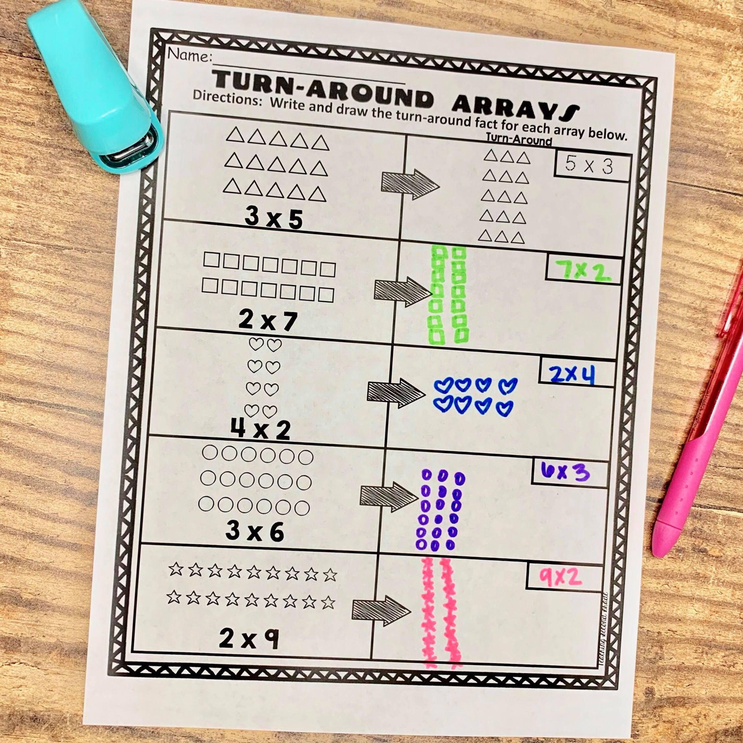 How to Teach Arrays - Teaching Second Grade [ 1024 x 1024 Pixel ]