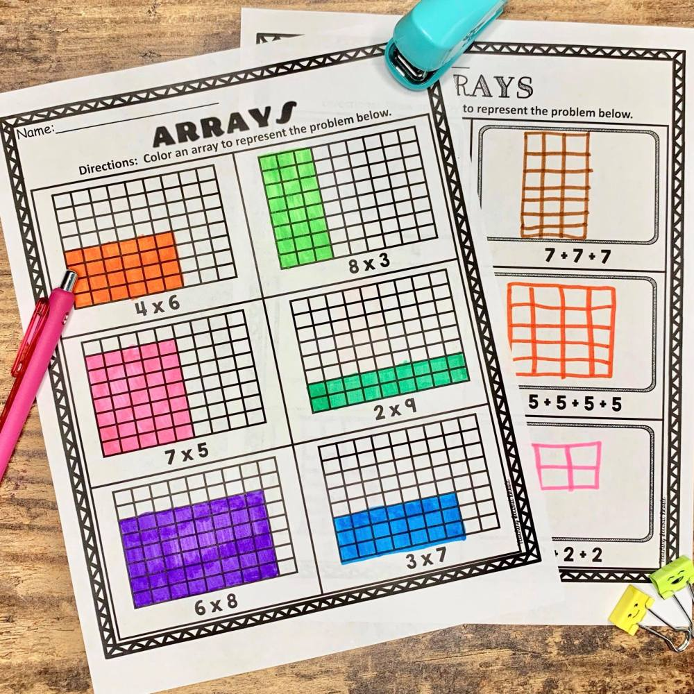 medium resolution of How to Teach Arrays - Teaching Second Grade