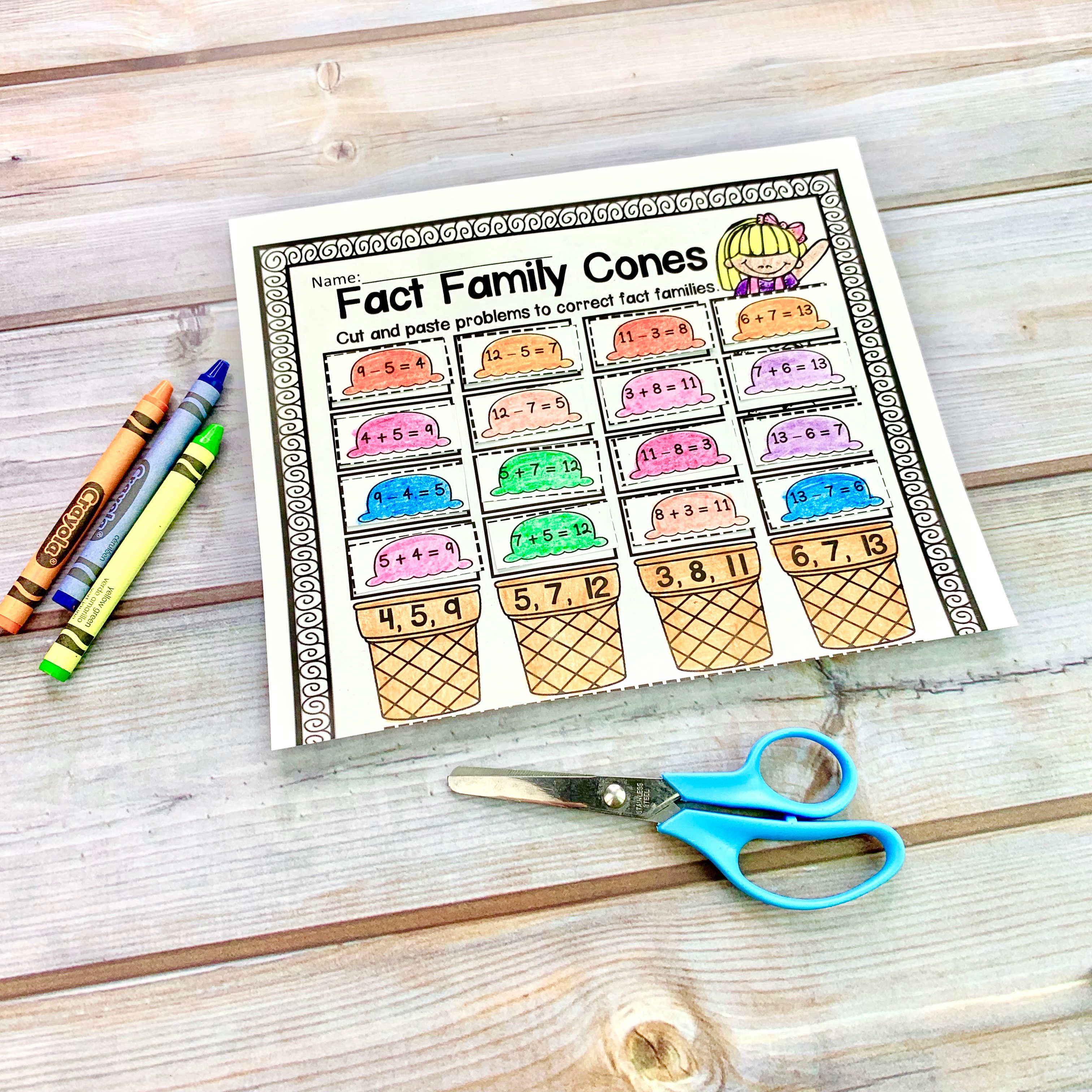 hight resolution of Practicing Fact Families in the Classroom - Teaching Second Grade