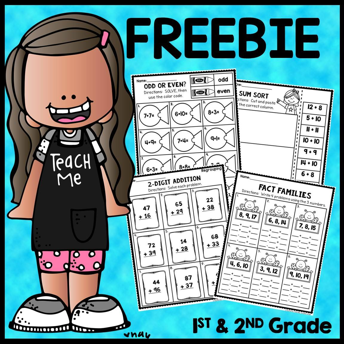 1st And 2nd Grade Math Worksheets