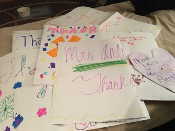 Thank you notes for other staff members or parent volunteers