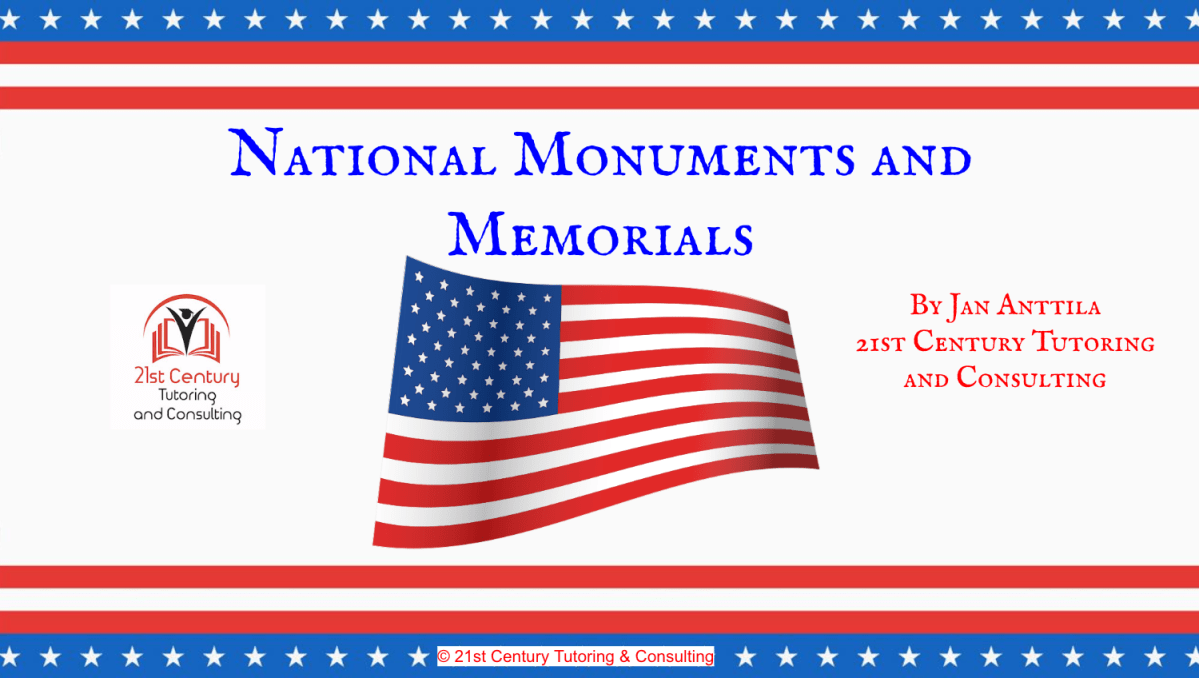 Persuasive Writing Project: What Famous American Needs a National Monument?
