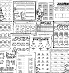 Christmas Math Worksheets Grades 3-5 - Teaching Tidbits and More [ 964 x 964 Pixel ]