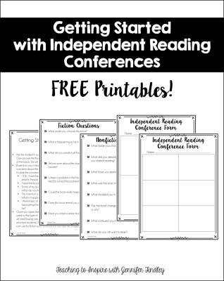 Independent Reading Conferences {A Guide to Getting