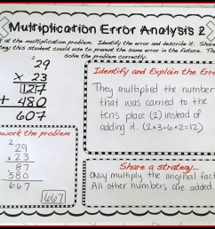 Error Analysis for Enrichment and Critical Thinking - Teaching with a  Mountain View [ 1209 x 1600 Pixel ]