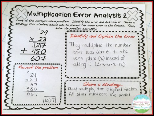 small resolution of Error Analysis for Enrichment and Critical Thinking - Teaching with a  Mountain View