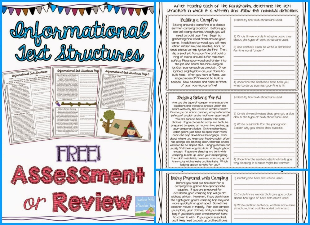 medium resolution of Informational Text Structures - Teaching with a Mountain View