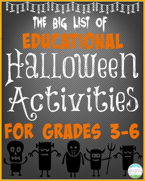 small resolution of Educational Halloween Activities for the BIG KIDS! - Teaching with a  Mountain View