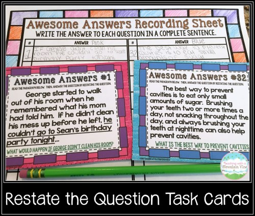 small resolution of Restating the Question Lesson - Teaching with a Mountain View