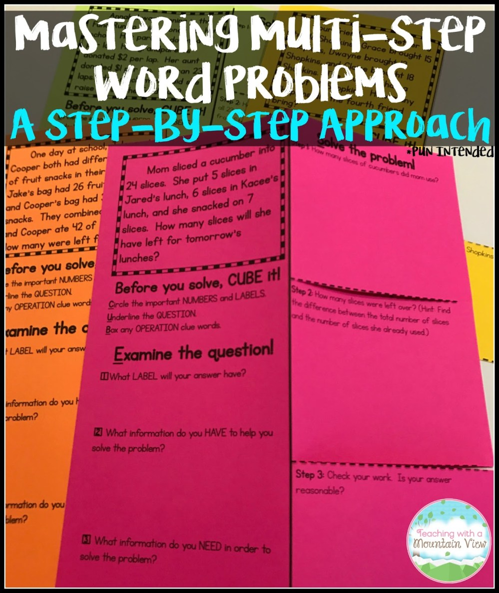 medium resolution of Multi-Step Word Problems Mastery - Teaching with a Mountain View