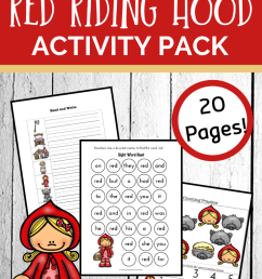 Free Little Red Riding Hood Worksheets and Activities [ 1102 x 735 Pixel ]