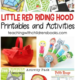 15 Little Red Riding Hood Story Printable Activities for Kids [ 1100 x 735 Pixel ]