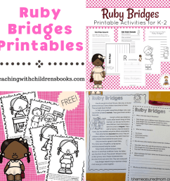 Free Ruby Bridges Printables for Elementary Students [ 1080 x 1080 Pixel ]