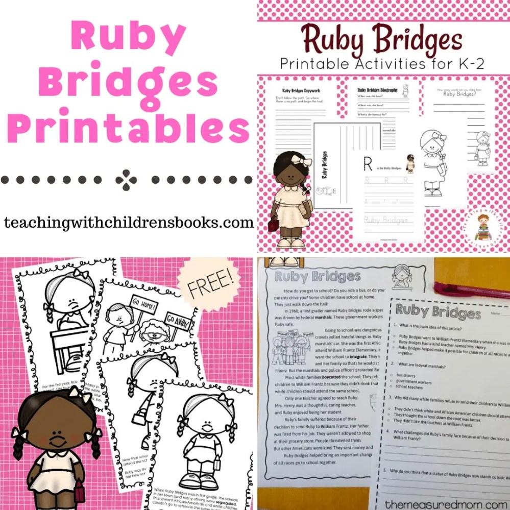 medium resolution of Free Ruby Bridges Printables for Elementary Students