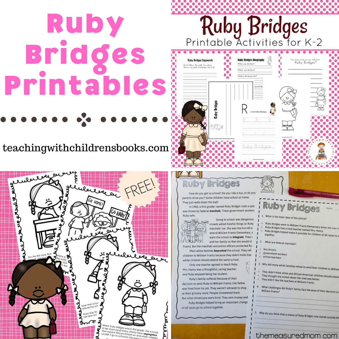 hight resolution of Free Ruby Bridges Printables for Elementary Students