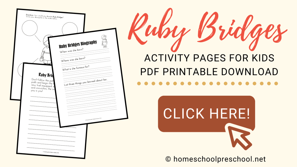 medium resolution of Ruby Bridges Activities and Printables for Black History Month