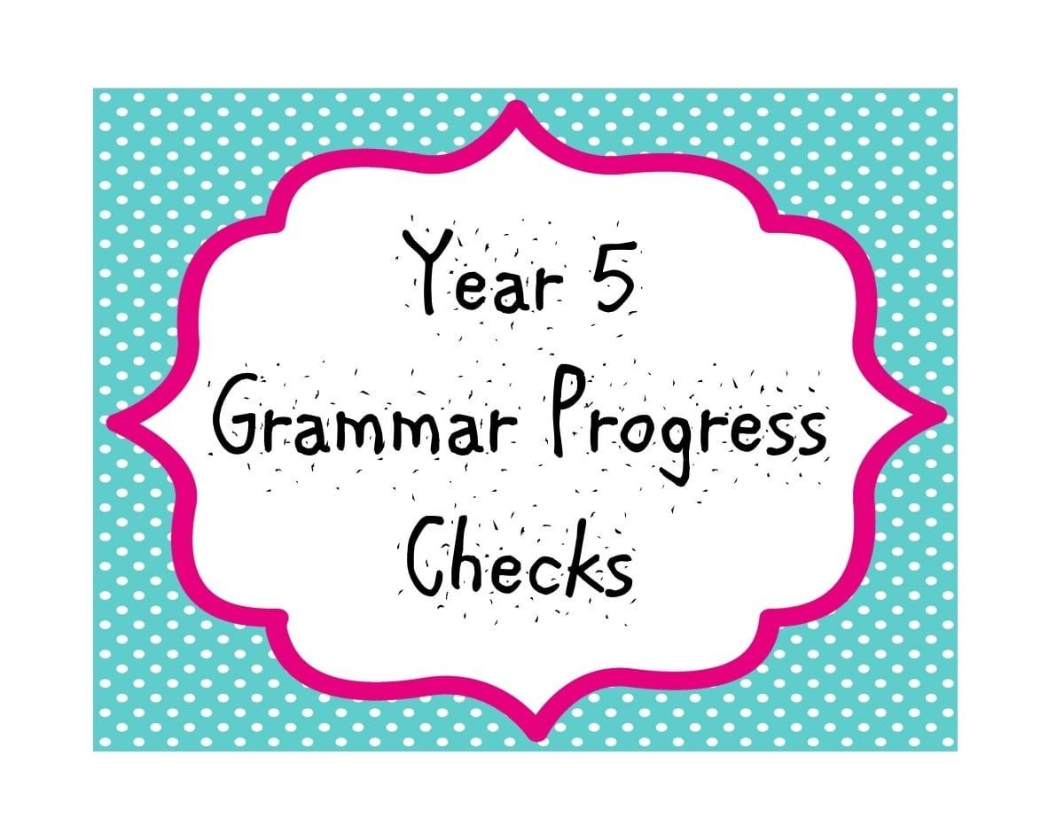 Year 5 Grammar Progress Checks Teaching With Ease