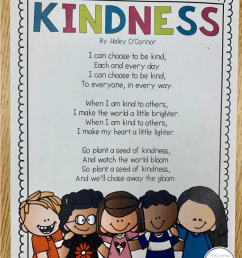 Kindness Lessons and Activities   Teaching With Haley O'Connor [ 1093 x 847 Pixel ]