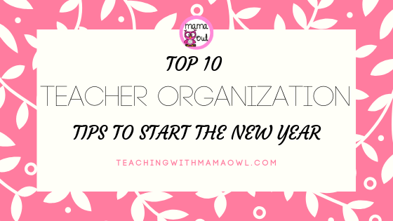 teacher organization tips