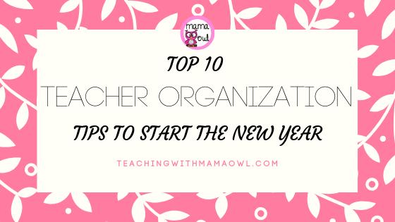 teacher organization tips