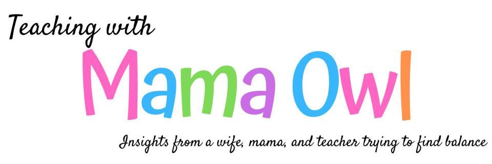 Teaching with mama owl blog header