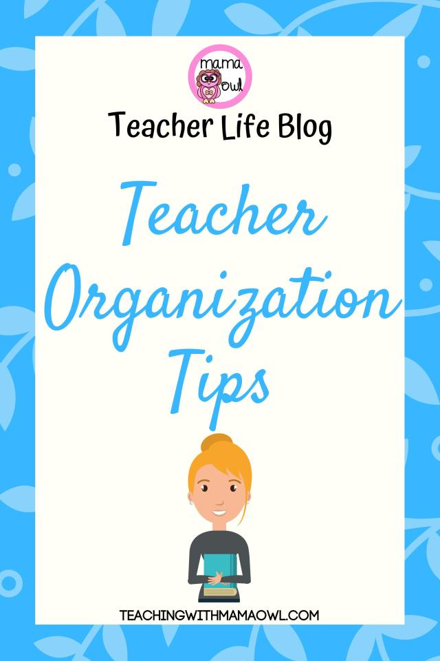 If you're like me, being more organized is one of the things you're wanting to focus on this year (or...every year). Organization skills are critical for any efficient teacher. In my seven years of teaching, I have discovered and refined many different organization methods and systems. Being organized helps me to work smarter, not harder.