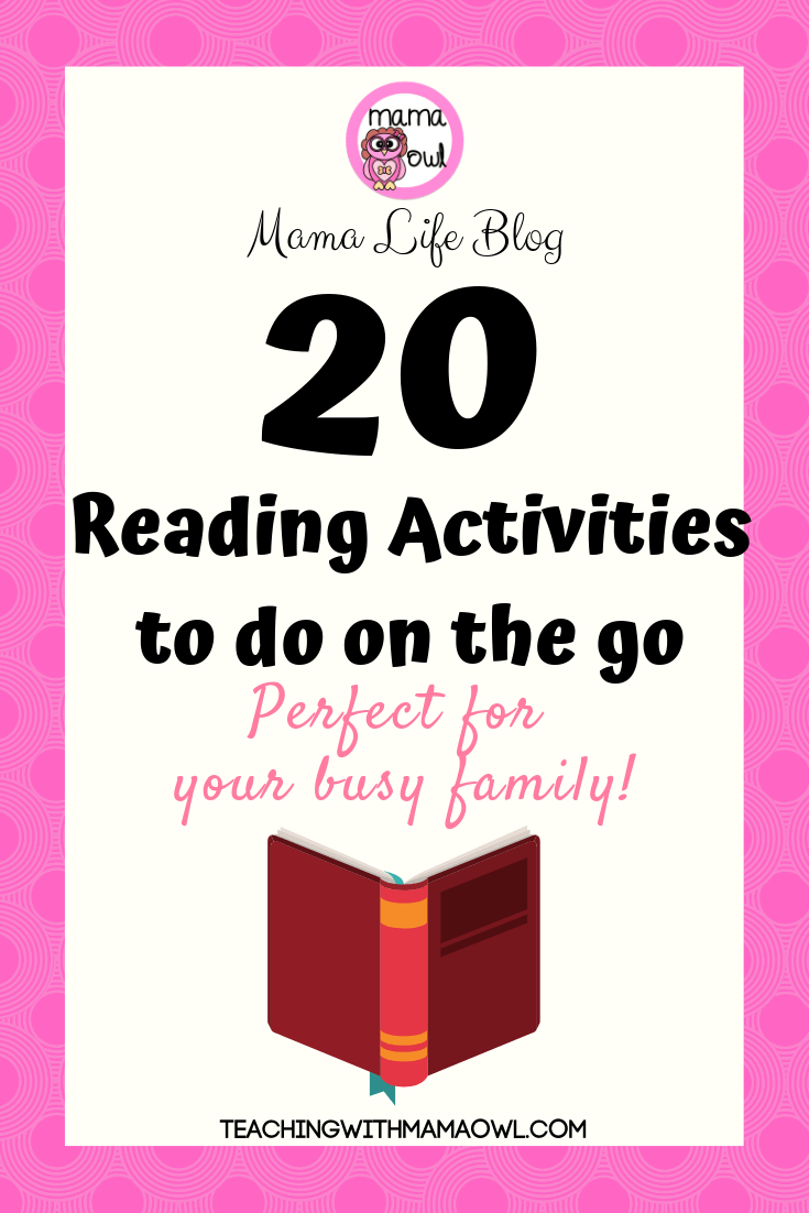 How can you help your kids avoid the summer slide while still having fun in the sun? Here are 20 reading activities you can do on the go!