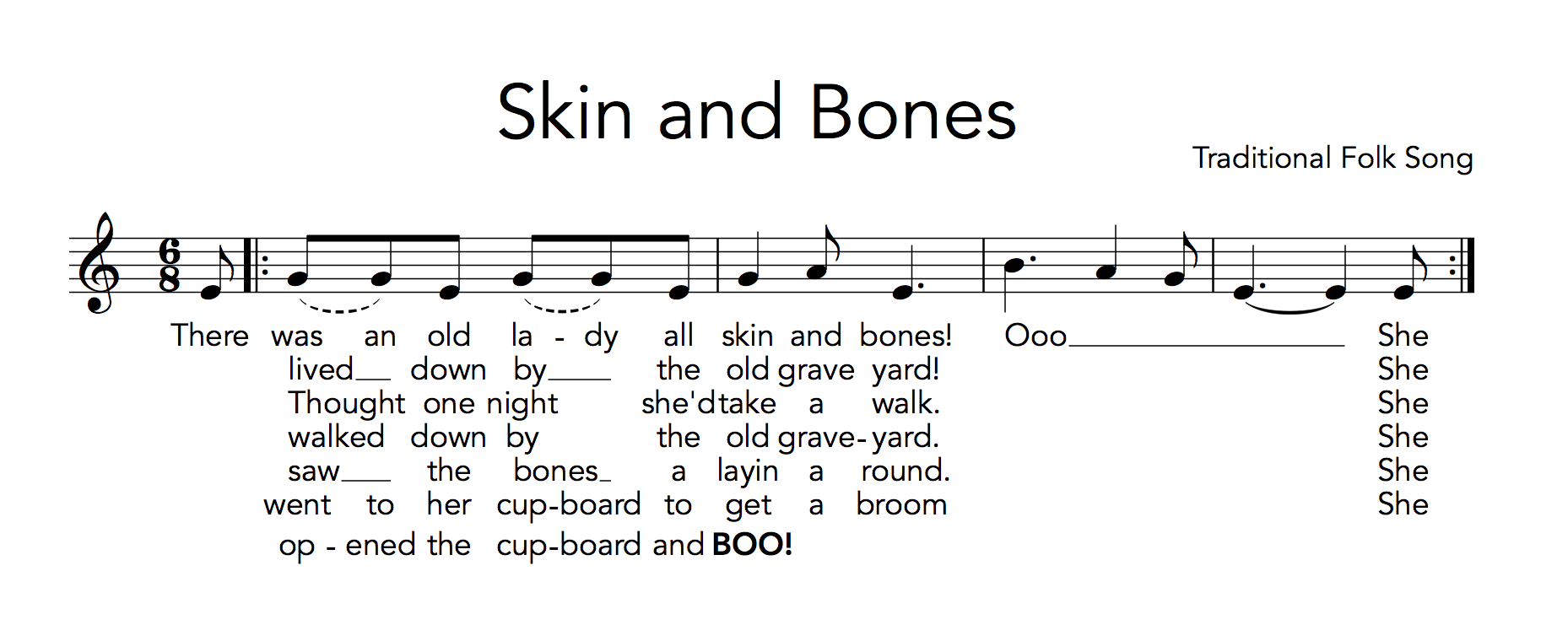 hight resolution of Skin and Bones Part 1 - Teaching With Orff