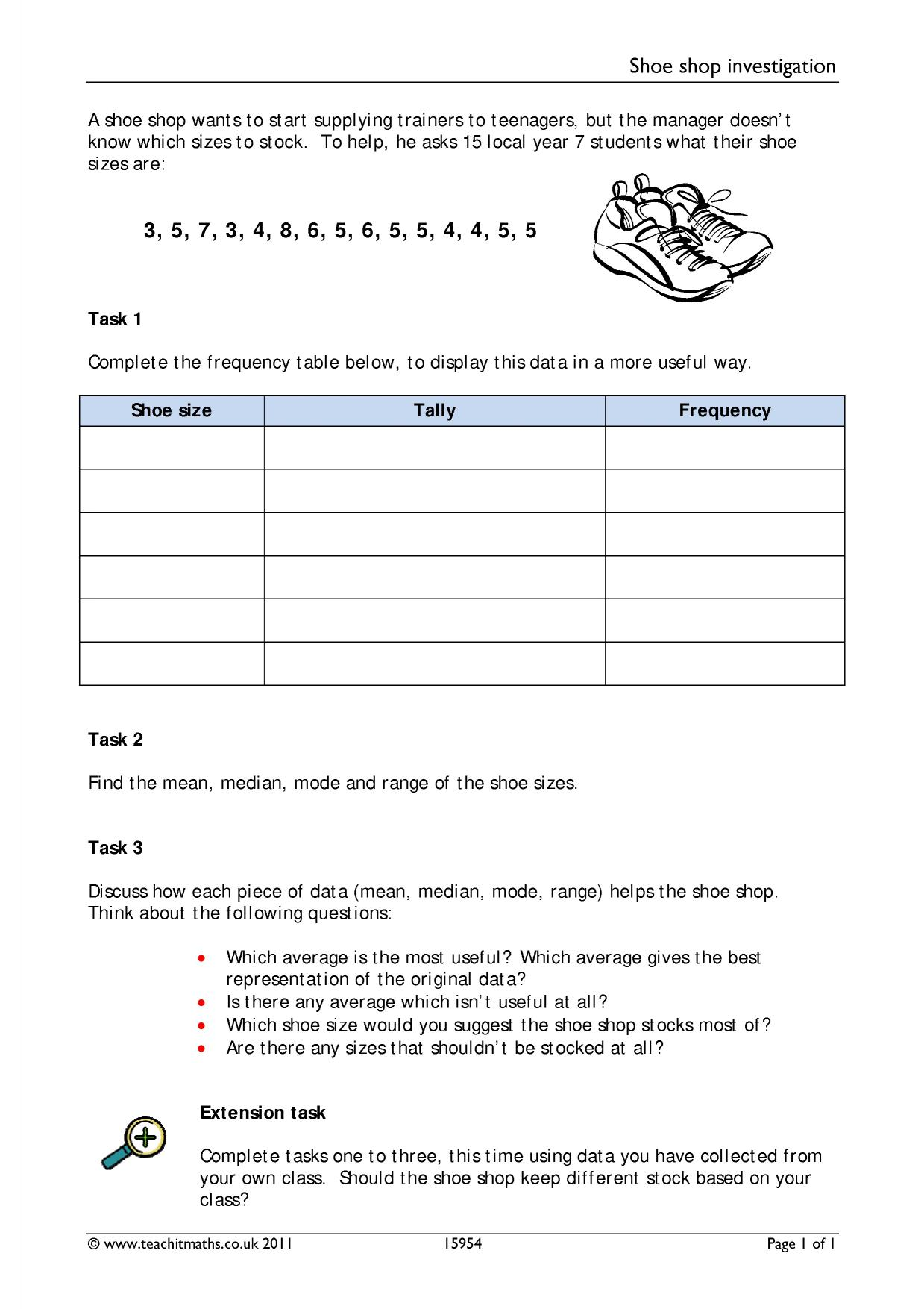 hight resolution of Mean Median Mode Rnage Worksheets   Printable Worksheets and Activities for  Teachers