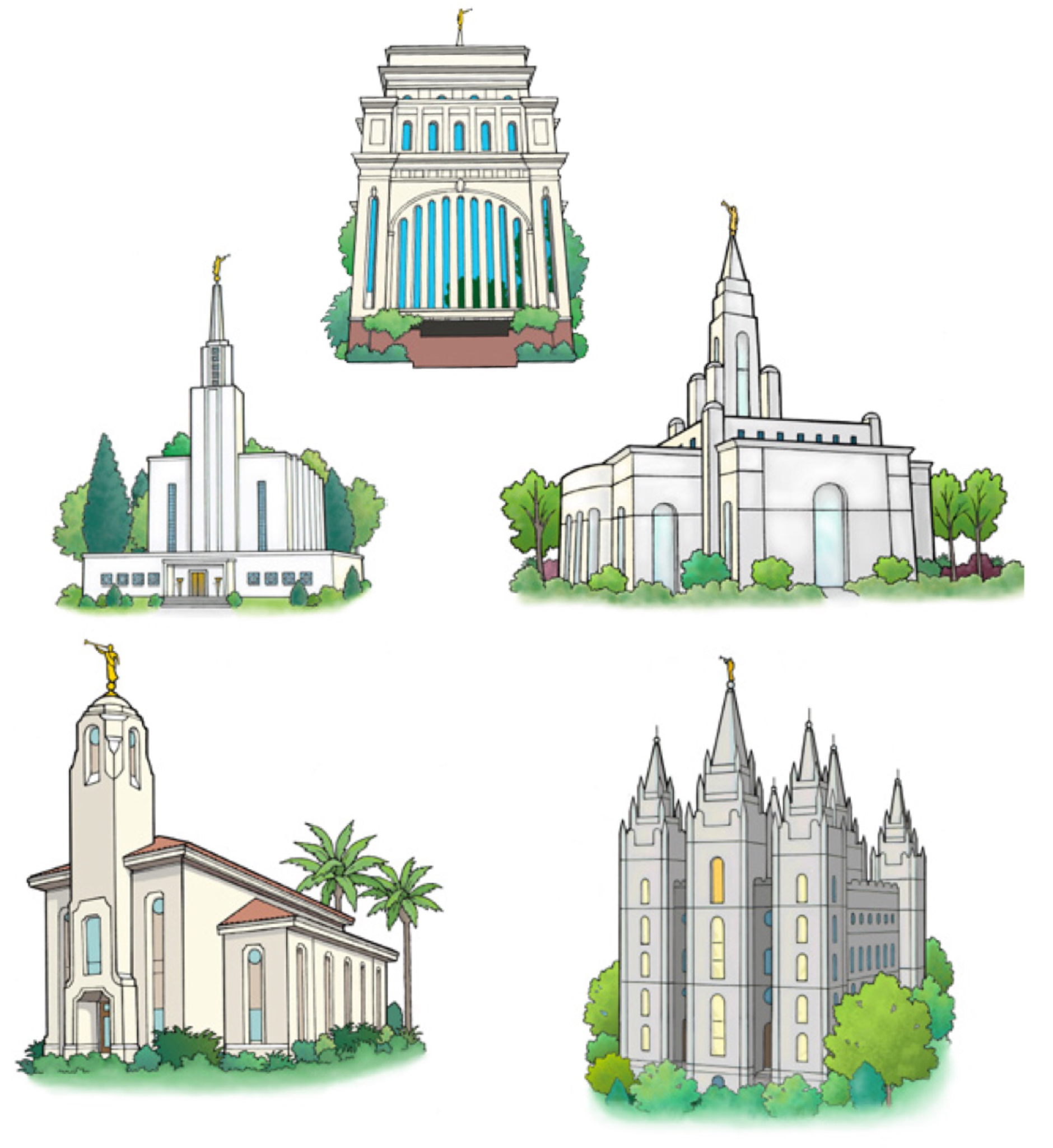 hight resolution of temple clipart